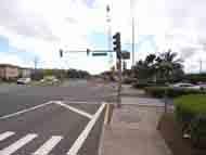 カラロアストリートと言う道路標識が有りました