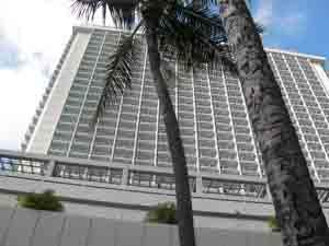 このホテルの24階の部屋に滞在しました。
